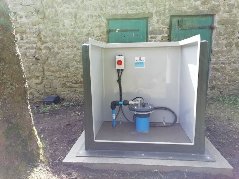 We raised the well head and sealed it to prevent water ingress and contamination